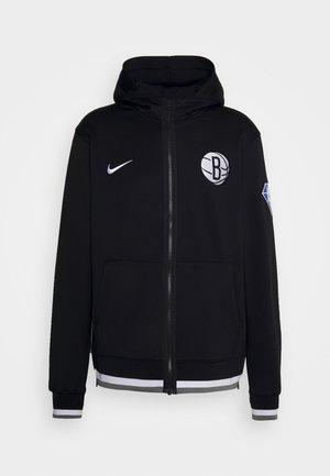 NBA BROOKLYN NETS SHOWTIME FULL ZIP HOODIE - Klubové oblečení - black/white/dark steel grey/white