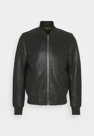 MENS BOMBER JACKET - Leather jacket - black