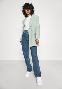 Selected Femme - SLFBLAIR LONG - Relaxed fit jeans - dark blue denim - 3