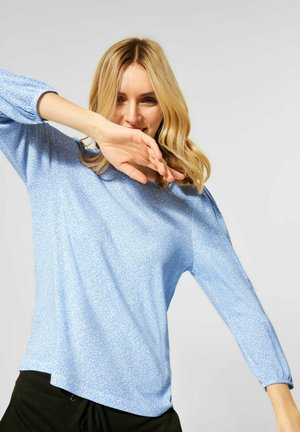 MIT PUFF-ÄRMELN - Long sleeved top - blau