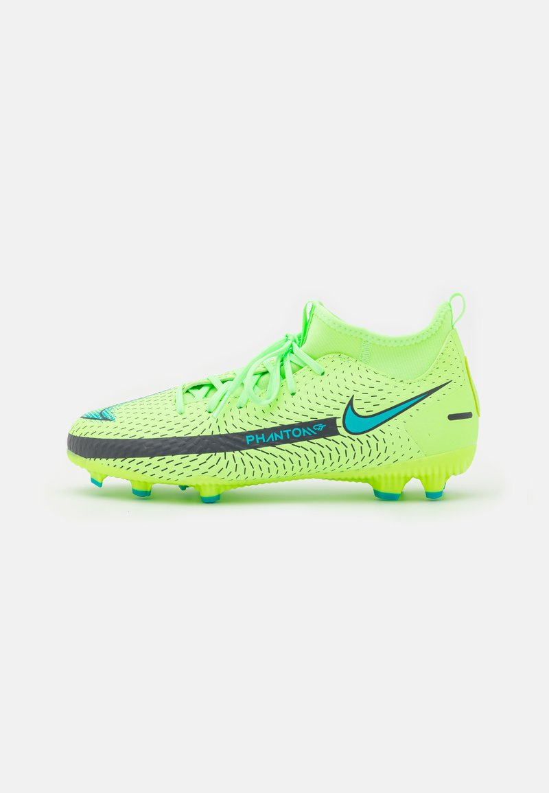 Nike Performance - JR PHANTOM GT ACADEMY DYNAMIC FIT MG UNISEX - Moulded stud football boots - lime glow/aquamarine