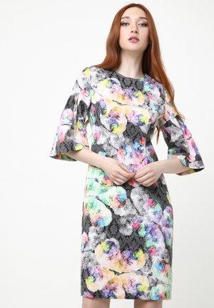 DEGA - Shift dress - anthrazit, flieder