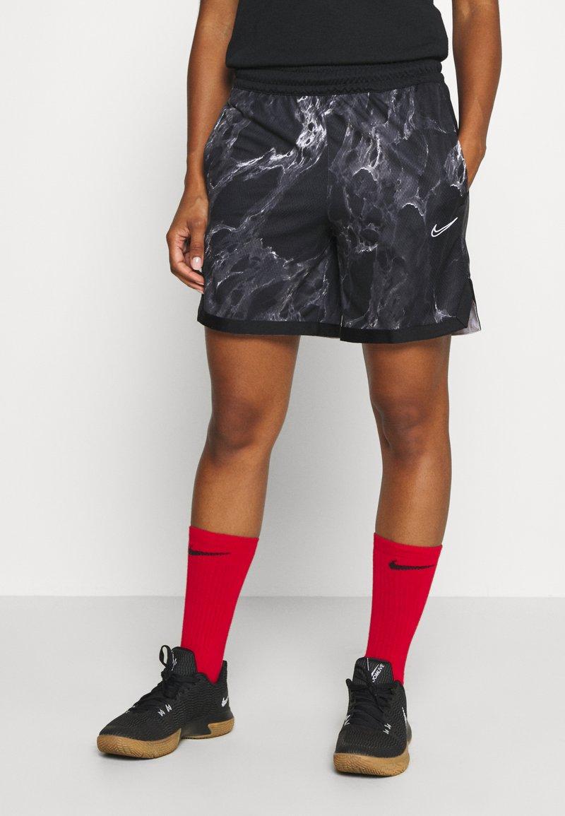 Nike Performance - NIKE DRI-FIT DAMEN-BASKETBALLSHORTS - Sports shorts - black/white