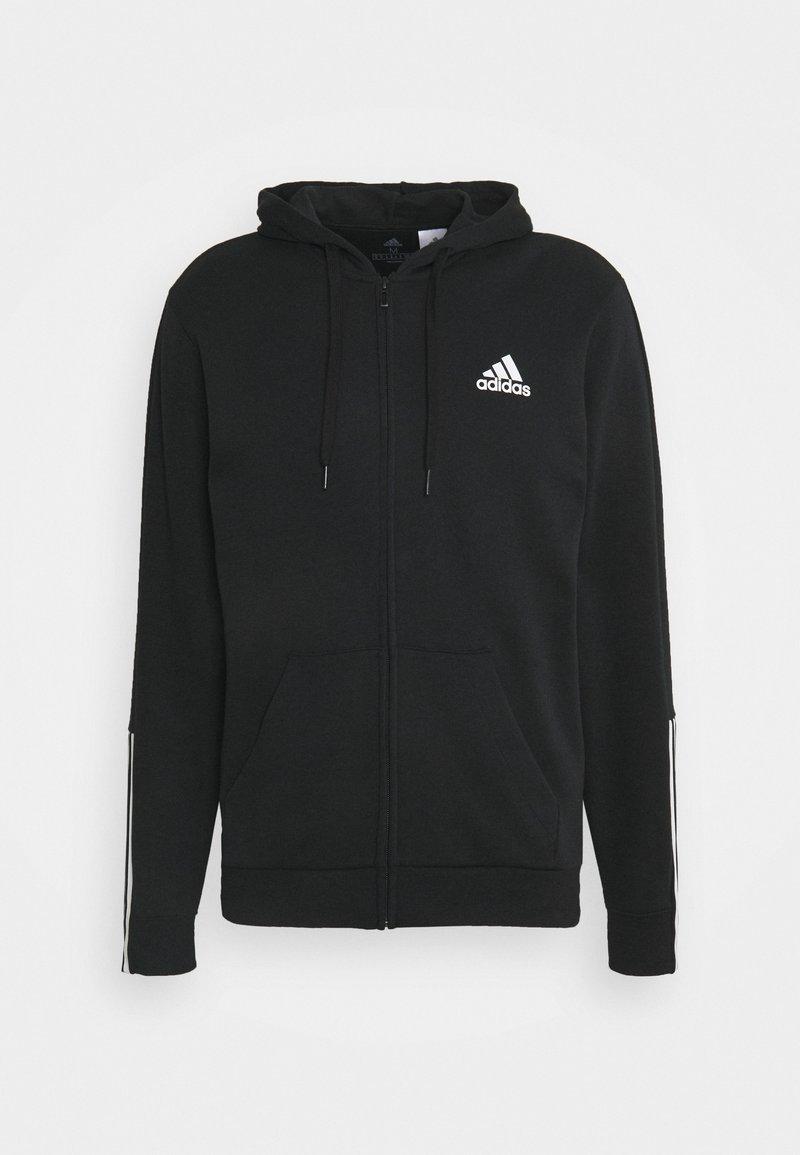 adidas Performance - Tröja med dragkedja - black/white