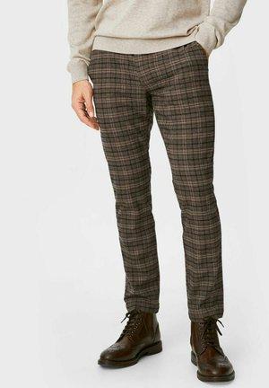 Spodnie materiałowe - graybrown