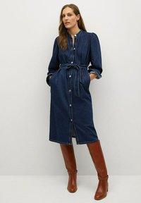 Mango - AVENIR-A - Denim dress - dunkelblau - 0
