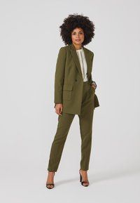 Aaiko - LARISE WO 577 - Short coat - dark olive - 1