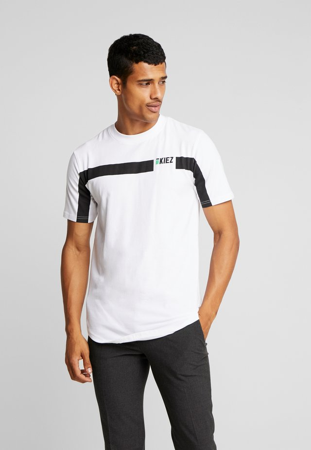 STRIPE TEE - Basic T-shirt - white