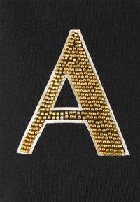 Armani Exchange - FELPA - Sweatshirt - black base/gold - 2