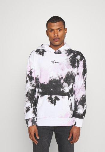 Sweatshirt - white/black/pink