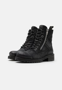 Pepe Jeans - MELTING TAPE WOMAN  - Lace-up ankle boots - black - 2