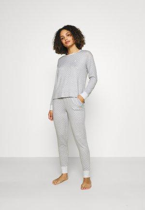 COZY LONG SLEEVE CREW NECK PAJAMA SET - Pyjama set - grey