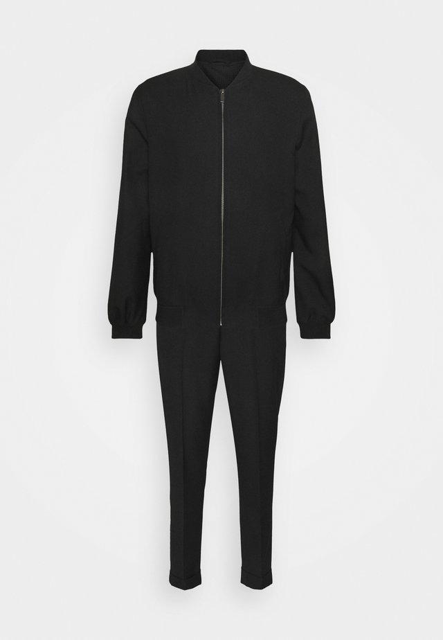 LIGHTWEIGHT & DRAWCORD TROUSERS - Pantalon classique - black