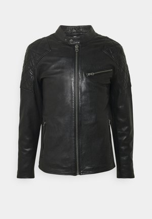 DONNIE - Leather jacket - black