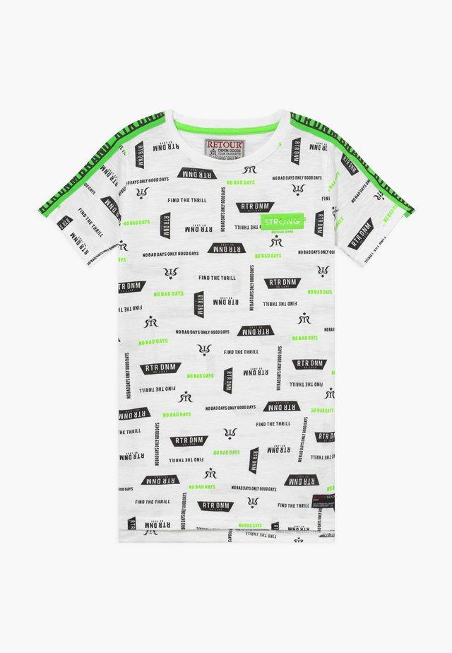ROBERT - T-shirt z nadrukiem - white