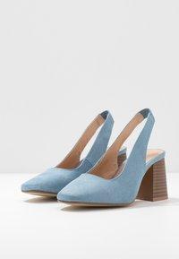 Simply Be - WIDE FIT LEXI - Escarpins - dusky blue - 4