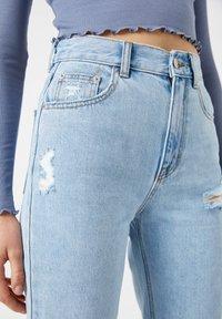 PULL&BEAR - Straight leg jeans - light blue - 4