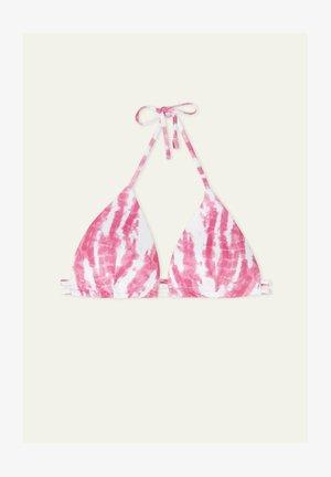 MIT TUNNELZUG TIE&DYE RIB - Bikini pezzo sopra - berry