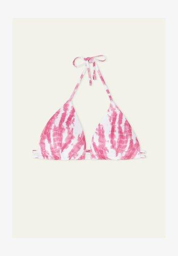 MIT TUNNELZUG TIE&DYE RIB - Bikini top - berry