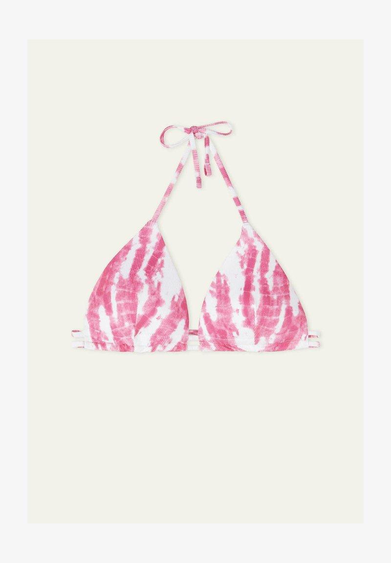 Tezenis - MIT TUNNELZUG TIE&DYE RIB - Bikini top - berry