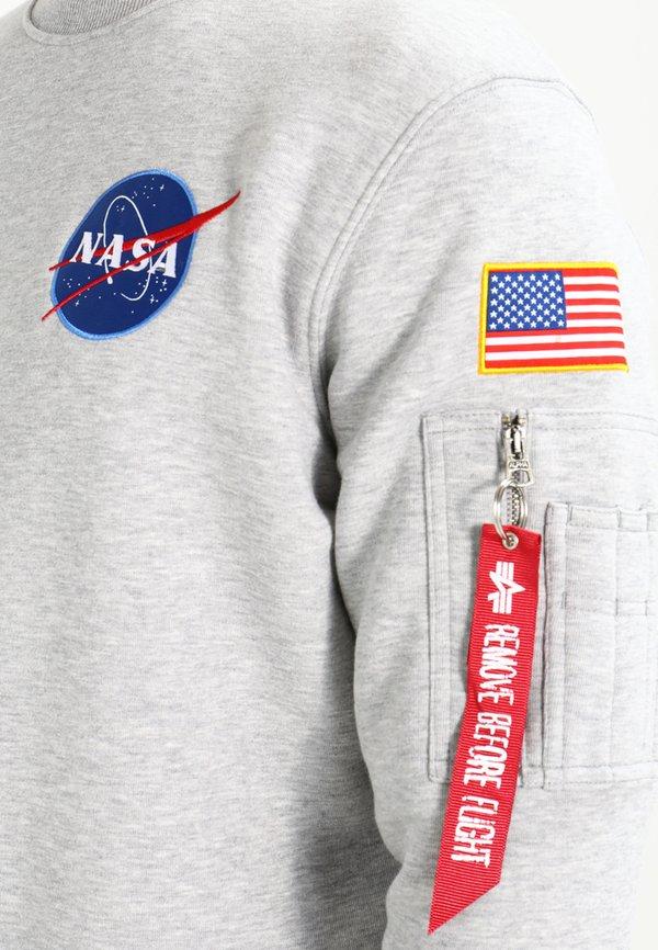 Alpha Industries NASA - Bluza - greyheather/jasnoszary Odzież Męska LVVC