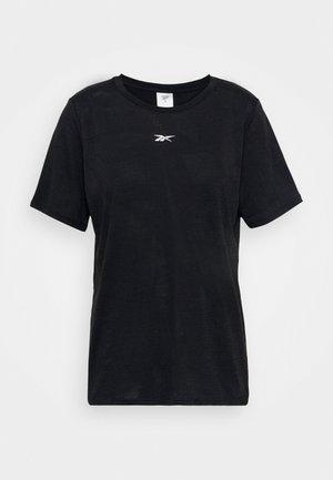 BURNOUT TEE - T-shirt z nadrukiem - black