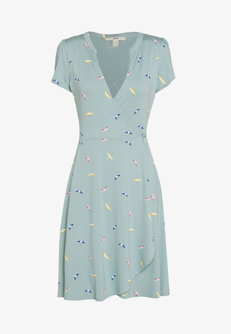 Esprit - DRESS - Jerseyklänning - light aqua green