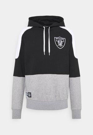 LAS VEGAS RAIDERS NFL CONTRAST PANEL HOODY - Zip-up hoodie - black