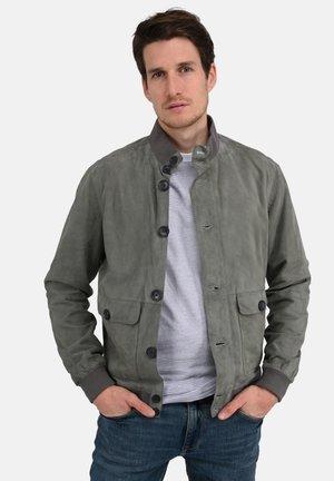 SERGIO - Leather jacket - grey