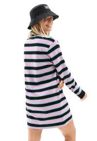 Vans - WM STRIPE POLO DRESS - Jersey dress - black - 1