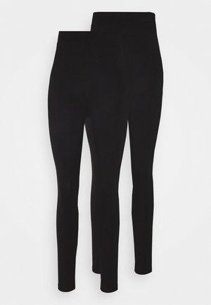 2 Pack Leggings High Waisted - Leggings - black