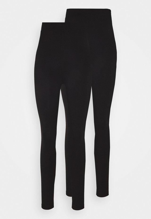 2 Pack Leggings High Waisted - Leggings - Trousers - black