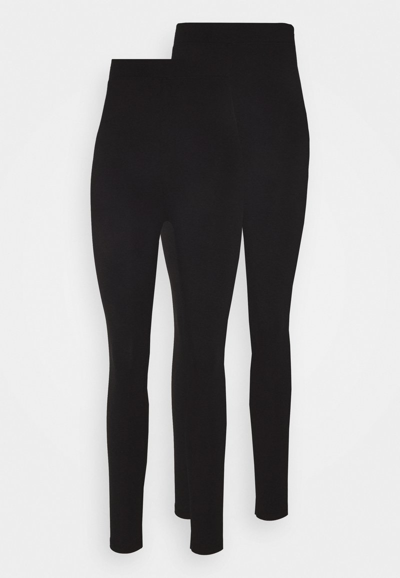 Even&Odd - 2 PACK HIGH WAISTED LEGGINGS - Leggings - Trousers - black