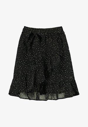 ROSE-ANN - A-line skirt - black/white