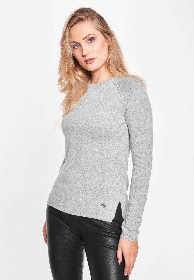 MARIE L - Stickad tröja - cenere