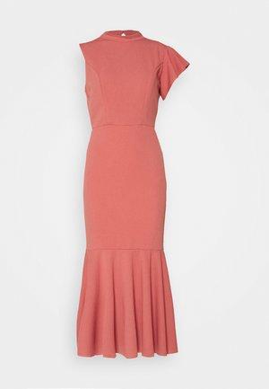 HIGH NECK MIDI DRESS - Cocktail dress / Party dress - dark blush