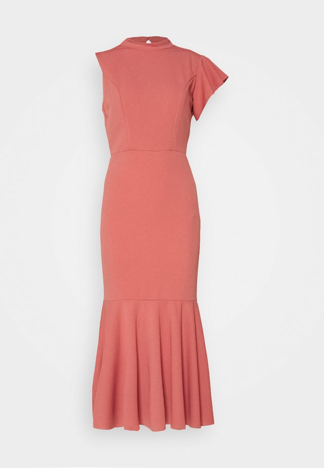 HIGH NECK MIDI DRESS - Cocktail dress / Party dress - dark blush