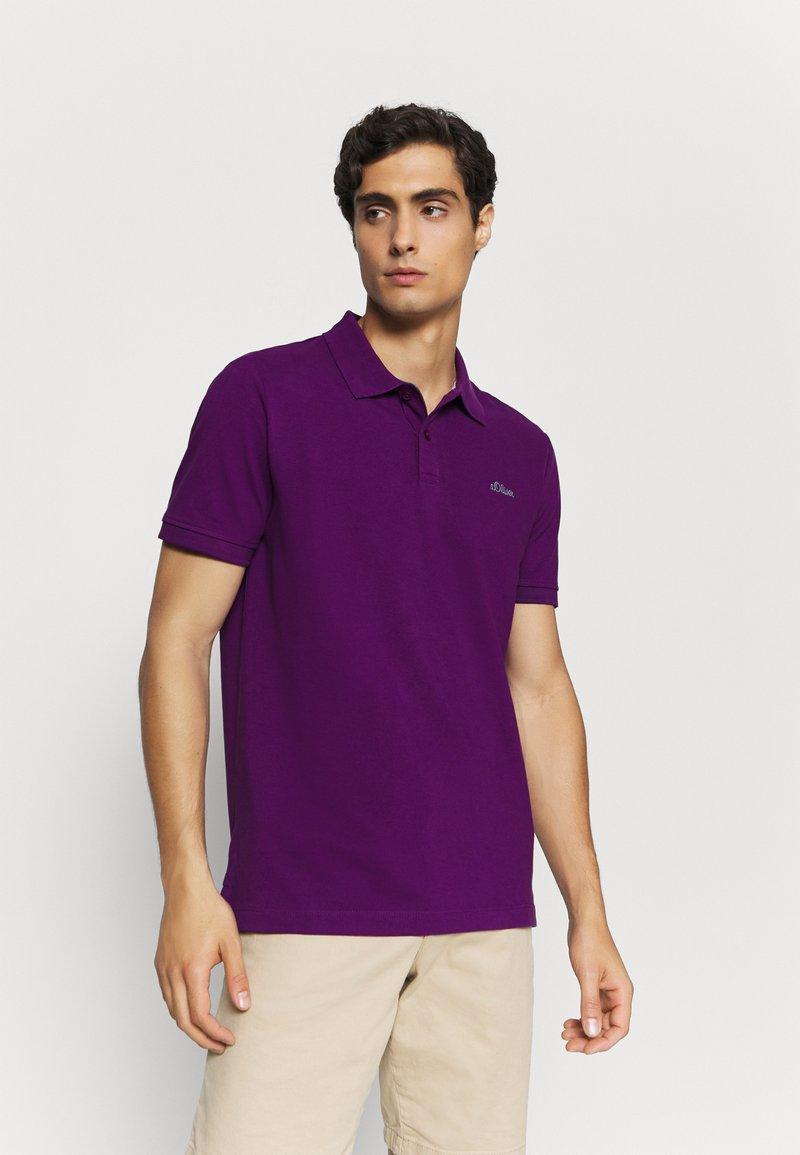 s.Oliver - KURZARM - Polo shirt - purple