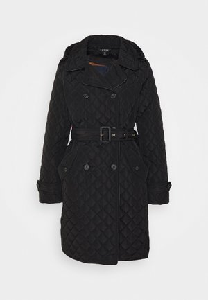 QUILTED  - Trenchcoats - black