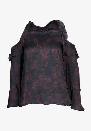 Blouse -  black/burgundy