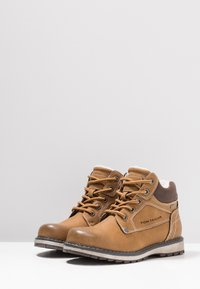 TOM TAILOR - Lace-up ankle boots - camel - 3