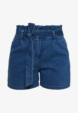 VMEVA PAPERBAG - Shorts vaqueros - medium blue denim