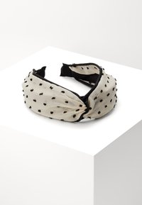 Topshop - POLKA DOT HEADBAND - Hair styling accessory - black/white - 0