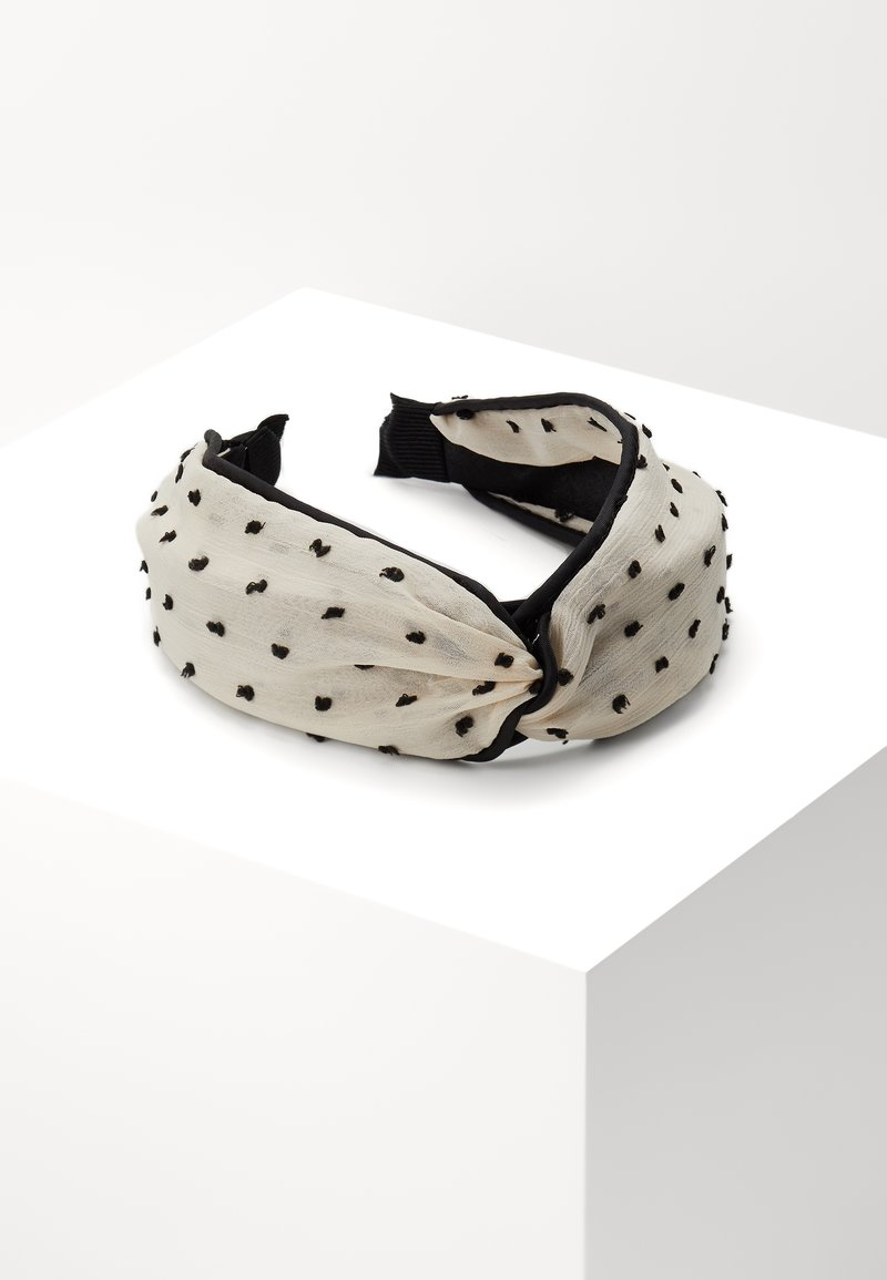 Topshop - POLKA DOT HEADBAND - Hair styling accessory - black/white