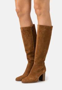 Anna Field - LEATHER - Vysoká obuv - beige - 0