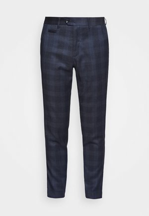 CHECKED PANTS - Pantaloni - navy