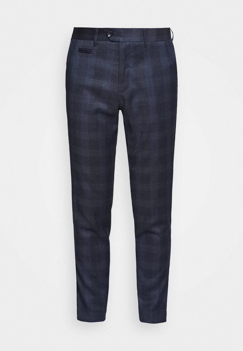 Lindbergh - CHECKED PANTS - Trousers - navy