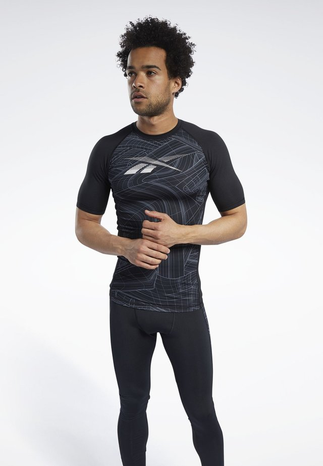 COMPRESSION - T-Shirt print - black