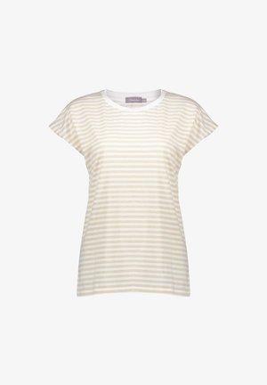 Print T-shirt - off-white/gold