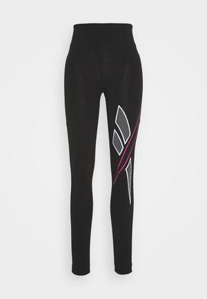 BIG VECTOR - Leggings - Trousers - black